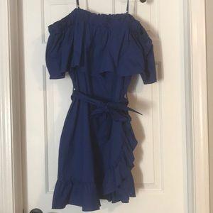 Beautiful vibrant blue dress